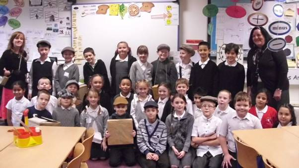 Year 4/5 dressed as evacuees.